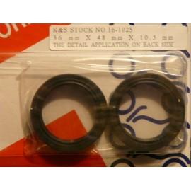 Joints spys de fourche pour la Kawasaki KX KL KLX KXT 125 250 400.Merci de cliquer sur l'image pour les détails.