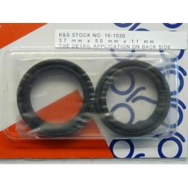 Joints spys de fourche pour la Kawasaki 500 EX /D de 1994 a 2009.Merci de cliquer sur l'image pour les détails.